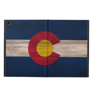 Wood Colorado flag ipad air case