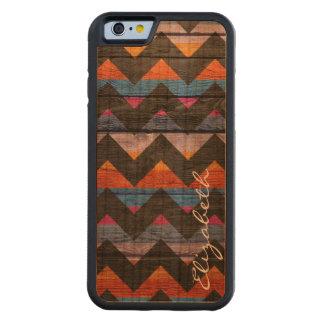 Wood Colourful Chevron Stripes #20 Cherry iPhone 6 Bumper Case