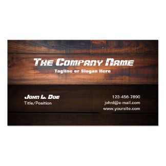 Wood Construction Business Cards