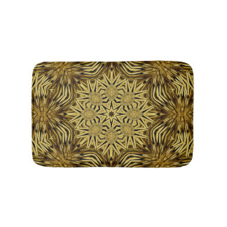 Wood Craft Mandala Bath Mats