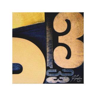 "Wood Cut 53 (12"") Canvas Print"