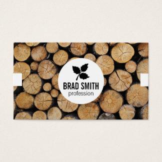 Wood Cut \ Logs \ tabs Business Card