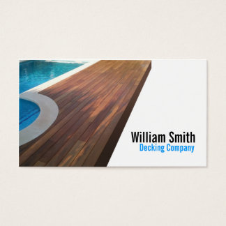 Wood Deck/Decking Contractor Business Card