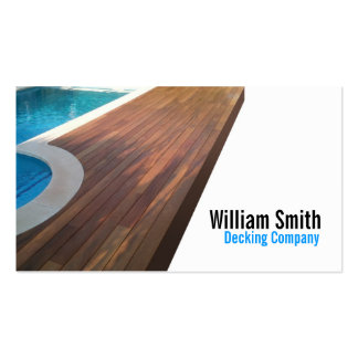 Wood Deck/Decking Contractor Pack Of Standard Business Cards