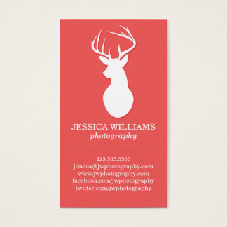 Wood & Deer Business Cards | Rustic