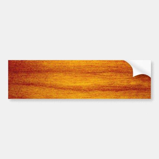 Wood Design Bumper Sticker