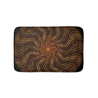 Wood Disk Mandala Bath Mats