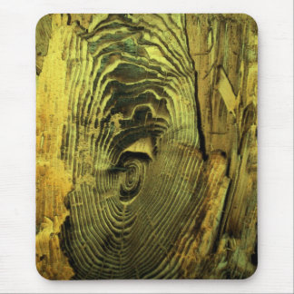Wood Distressed Burnt Driftwood Mouse Pad