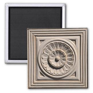 wood door flower decoration sculpture square magnet