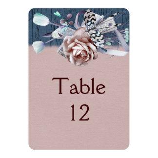 Wood Dream Rose Ribbon Romantic Table card 13 Cm X 18 Cm Invitation Card