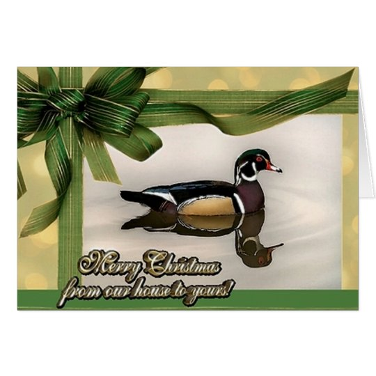 Wood Duck Christmas Card