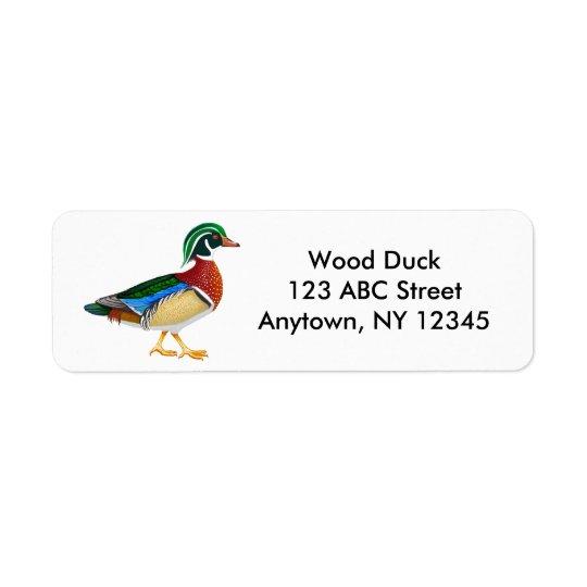 Wood Duck Drake Label Return Address Label