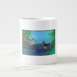 wood ducks in the woods large coffee mug