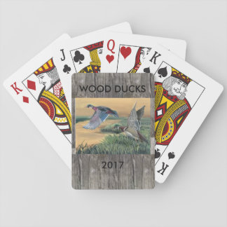 Wood Ducks Playing Cards