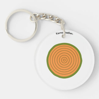 Wood element Double-Sided round acrylic key ring