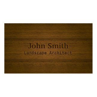 Wood Embossing Landscape Architect Business Card