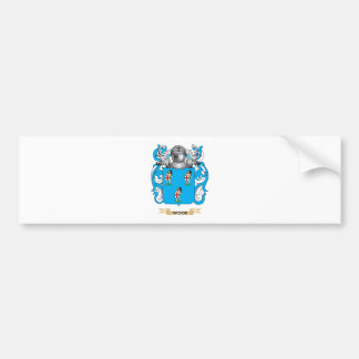 Wood English Family Crest (Coat of Arms) Bumper Sticker