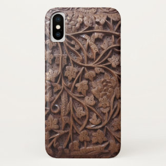 Wood Engraved iPhone X Case