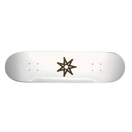 Wood fairy star skateboard deck