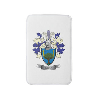 Wood Family Crest Coat of Arms Bath Mat