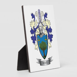Wood Family Crest Coat of Arms Display Plaques