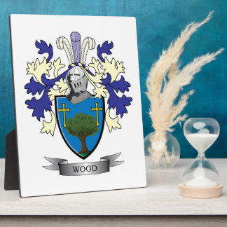 Wood Family Crest Coat of Arms Photo Plaque