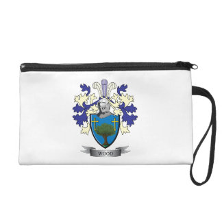 Wood Family Crest Coat of Arms Wristlet