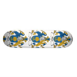 Wood Family Crest Custom Skate Board