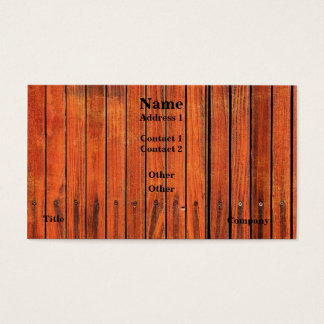 Wood Fence Image Business Card