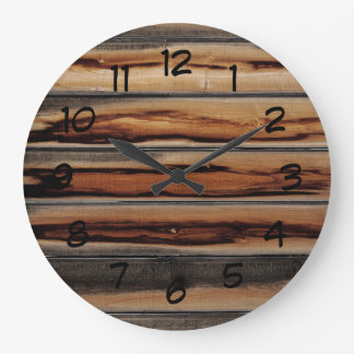 Wood Fence Texture Cool Unique Large Clock