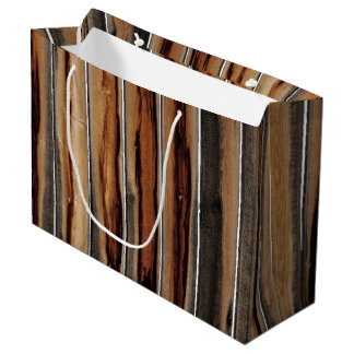 Wood Fence Texture Cool Unique Large Gift Bag