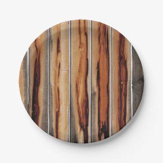 Wood Fence Texture Cool Unique Paper Plate