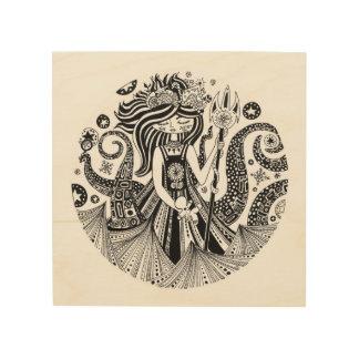 Wood Fine Art Print | GINGERBREAD SEA WITCH