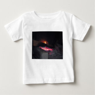 Wood fire flame heat spires burning in fireplace baby T-Shirt