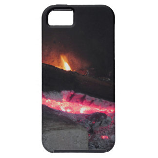 Wood fire flame heat spires burning in fireplace case for the iPhone 5