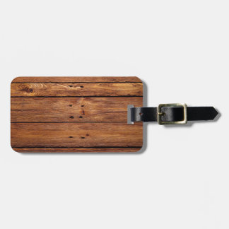 wood floor luggage tag