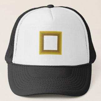 wood frame trucker hat