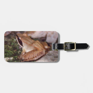 Wood Frog Luggage Tag