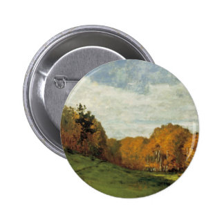 Wood Gatherers at the Edge of the Forest 6 Cm Round Badge