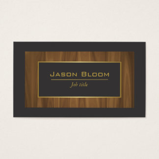 Wood Gold and black Business Card