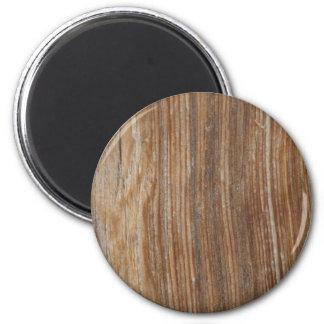 Wood Grain 6 Cm Round Magnet