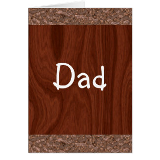 Wood Grain Abstract Card