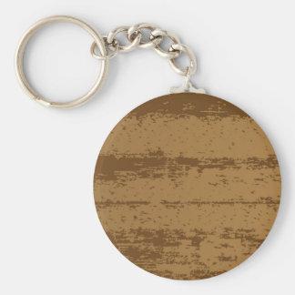 Wood Grain Background Basic Round Button Key Ring
