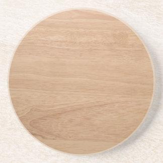 Wood grain coaster