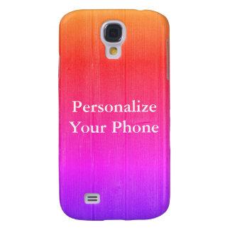 Wood Grain Colorful bright Samsung Galaxy S4 Case