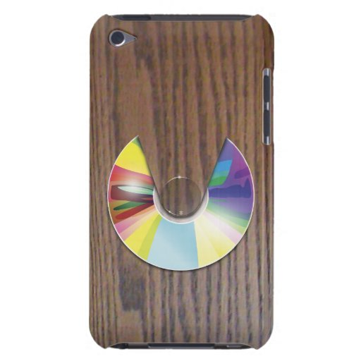Wood grain compact disc player iPod Touch iPod Touch Case