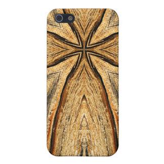 Wood Grain Cross iPhone Case iPhone 5 Cases