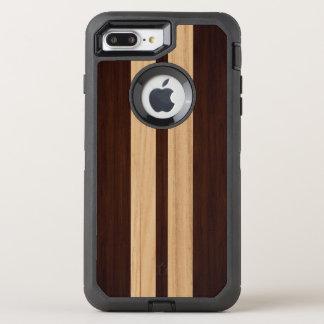 Wood Grain Dark and Light Stripes Stylish Look OtterBox Defender iPhone 7 Plus Case