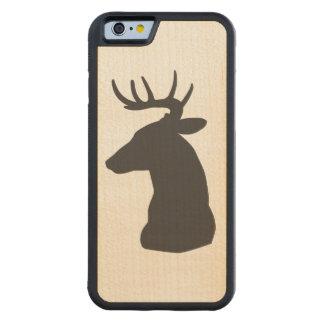 Wood Grain Deer Head Phone Case