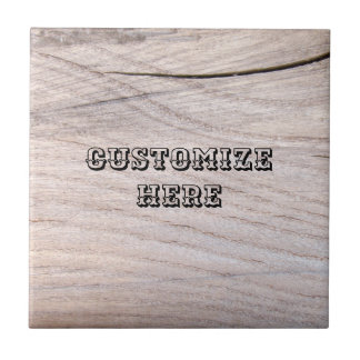 Wood Grain Design Ceramic Photo Tile